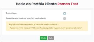 V nastavení systému chybí systémový e-mail a jeho název