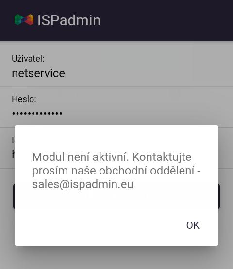 Upozornění o neaktivním modulu Task manager