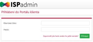 Formulář pro přihlášení klienta