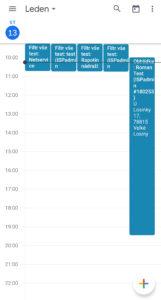 Úkoly propsané do zvoleného kalendáře